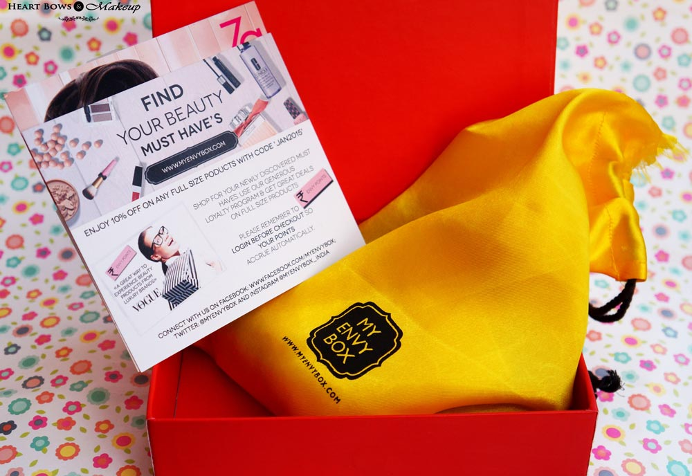 My Envy Box January Products, Samples & Review