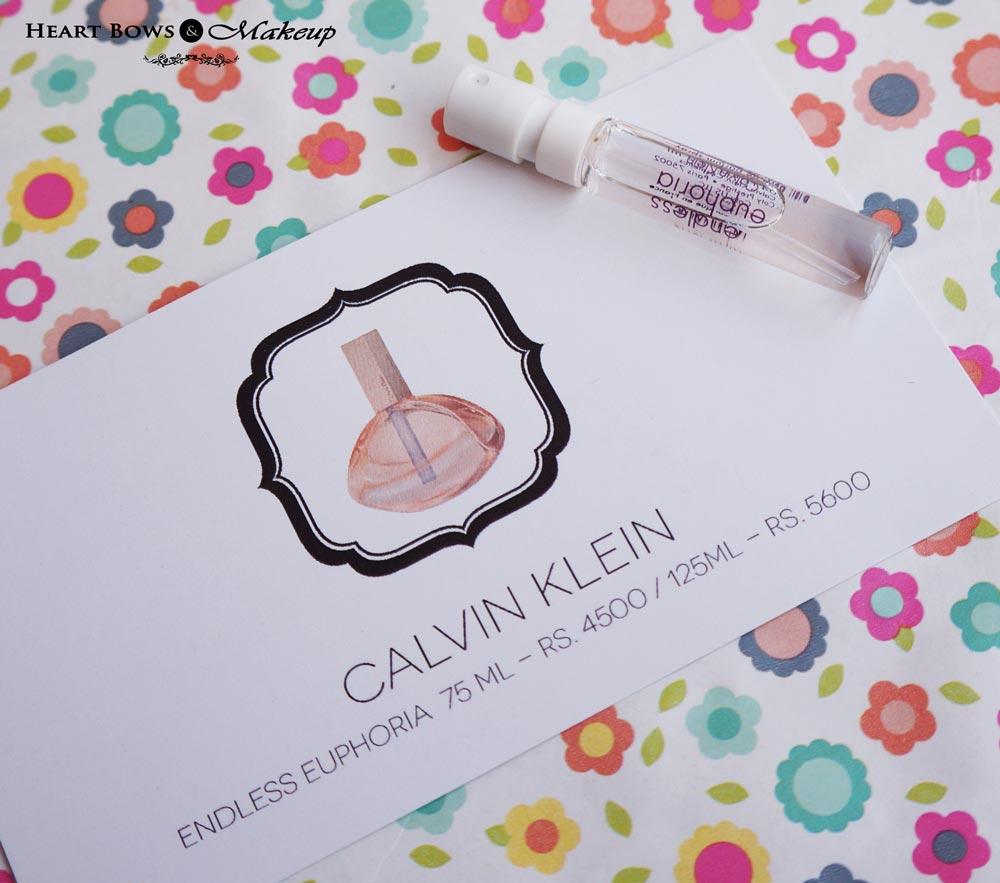 Envy Box January Review & Price: Calvin Klein Endless Euphoria EDP