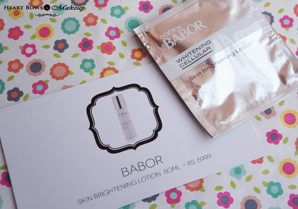Envy Box January Products & Review: Babor Skin Brightening Lotion