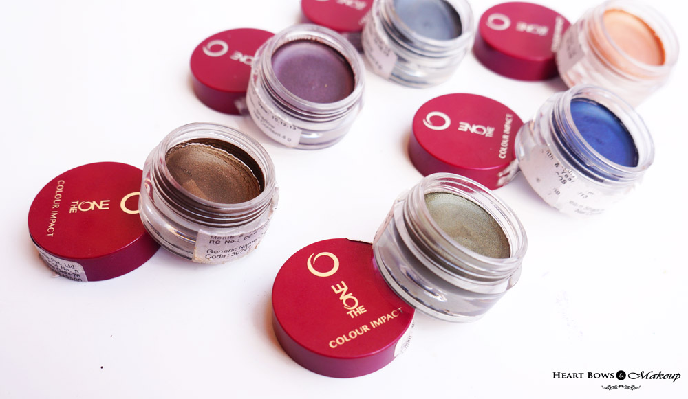 Oriflame The ONE Cream Eyeshadow Review, Swatches & Shades
