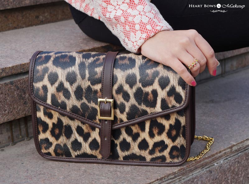Chic Leopard Print Sling Bag by StalkBuyLove & Zotiqq Ring