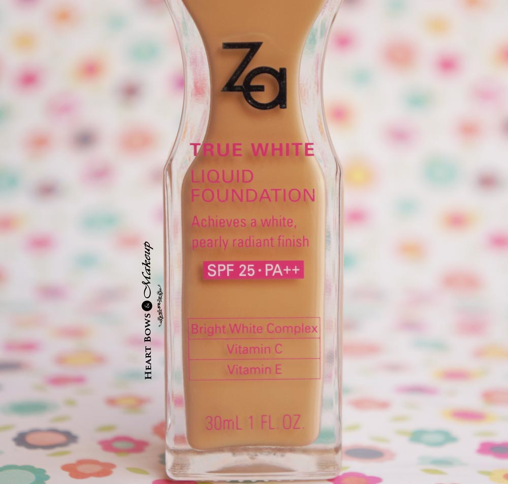 ZA True White Liquid Foundation Review & Swatches OC 30