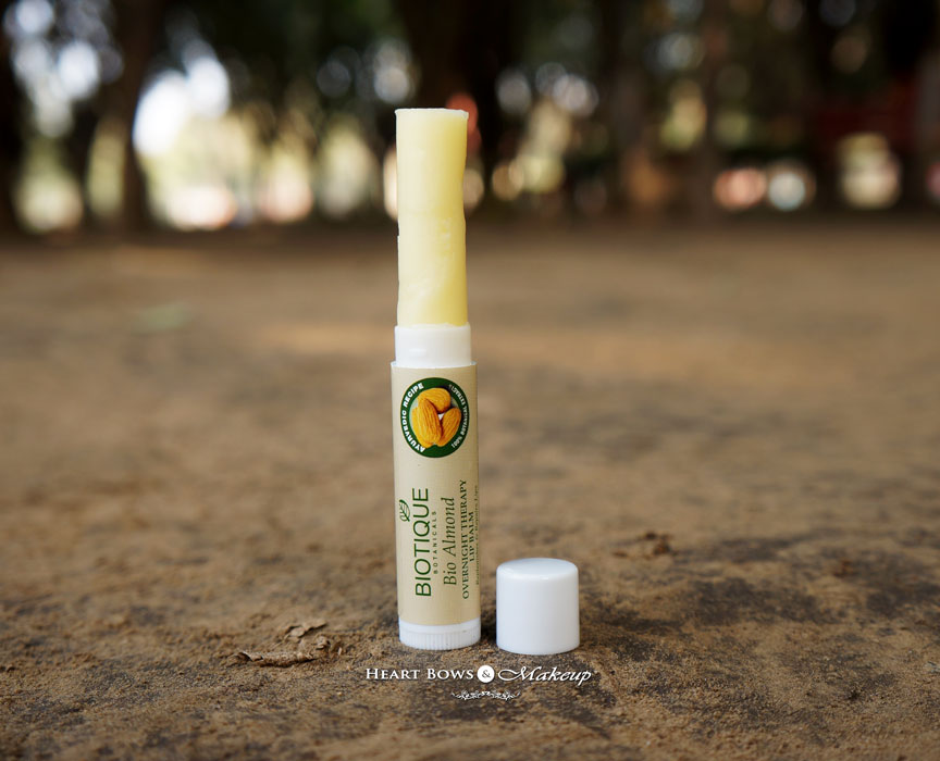 Biotique Bio Almond Lip Balm Review: Best Lip Balm ij India For Dry Lips