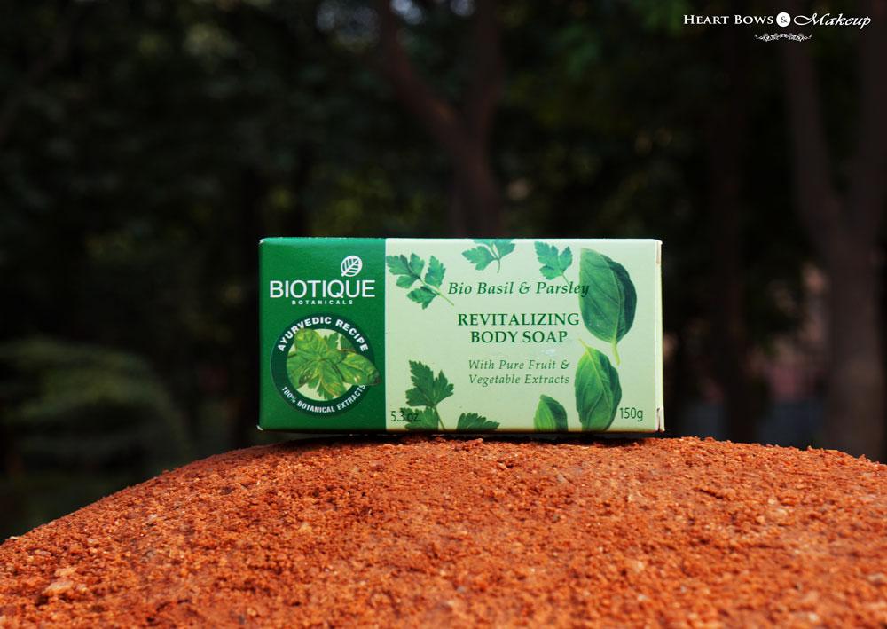Biotique Bio Basil & Parsley Revitalizing Body Soap Review, Price & Buy Online India