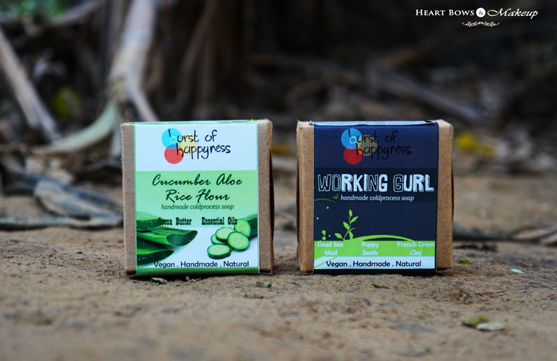 Burst of Happyness Working Gurl & Cucumber Aloe Rice Flour Soap Review, Price & Buy Online India