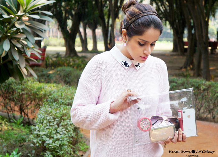 Indian Fashion Blogger: Transparent Envelope Clutch India