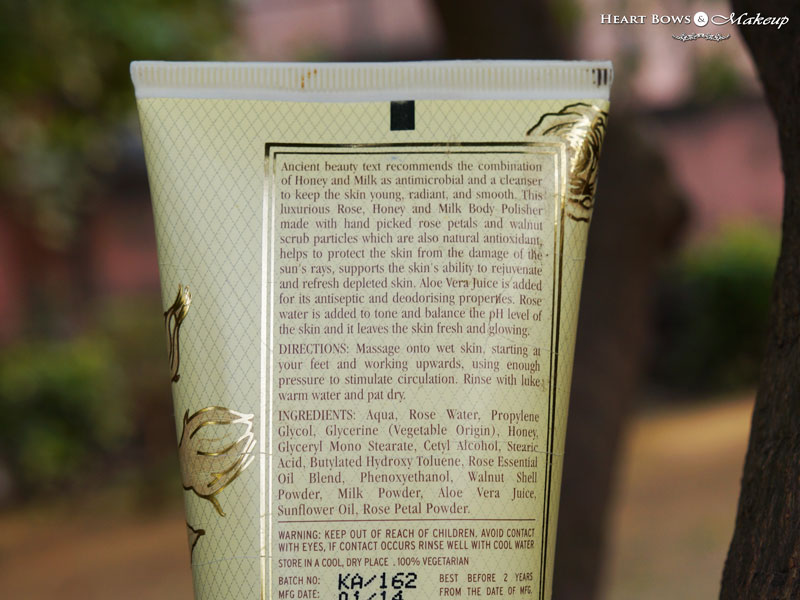 Kama Ayurveda Rose Honey & Milk Body Polisher Ingredients
