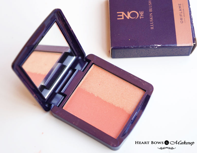 Oriflame The ONE Illuskin Blush Shimmer Rose Review, Swatches & Price India