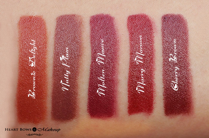 Oriflame The One Matte Lipstick Review Swatches Amp Price