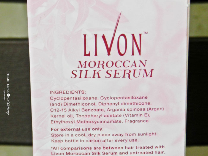 Livon Silk Serum Ingredients & Review