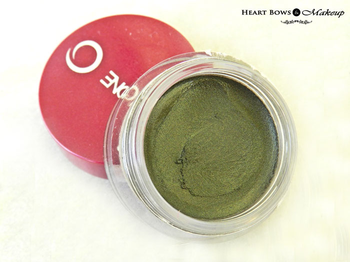 Oriflame The ONE Colour Impact Eyeshadow Olive Green Review & Swatches