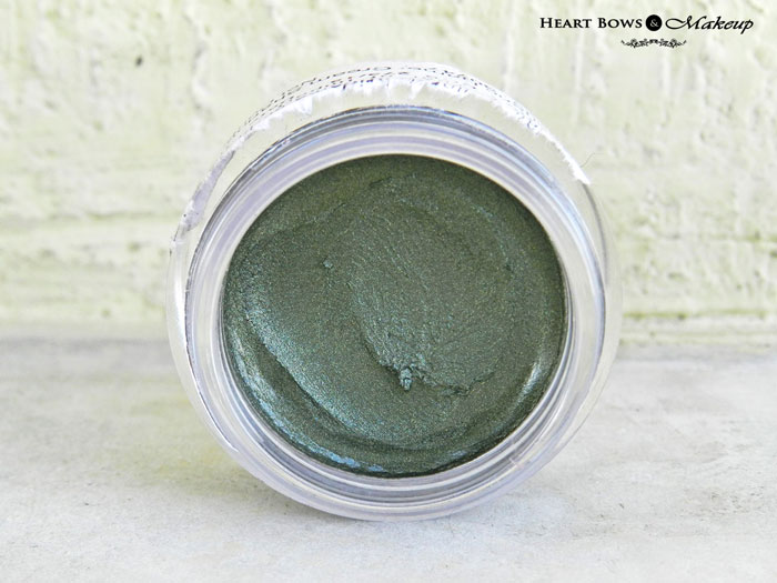 Oriflame The ONE Cream Eyeshadow Olive Green Review & Swatches