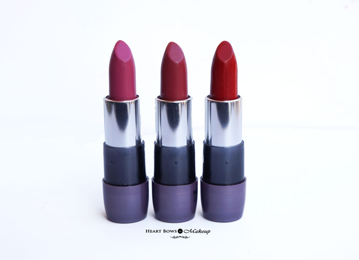 Oriflame The ONE Lipsticks Pink Raspberry, Wild Rose & Red Seduction Review, Swatches