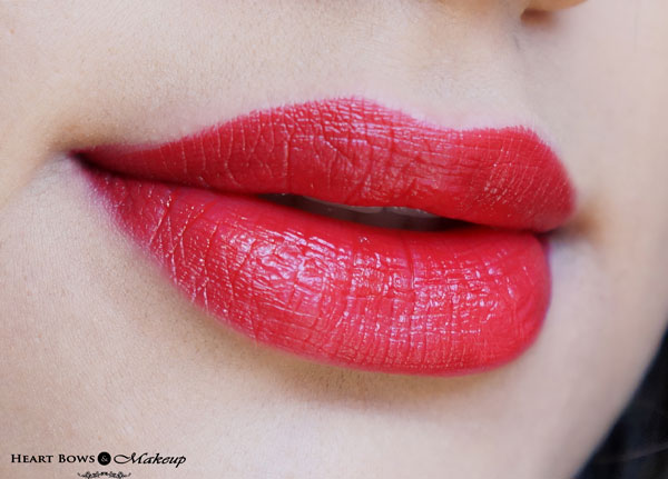 Oriflame The ONE Matte Lipstick Red Seduction Lip Swatches & Review
