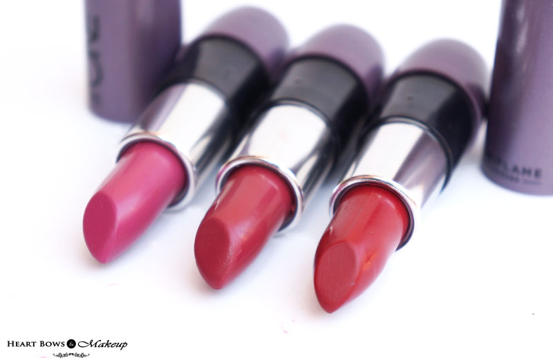 Oriflame The ONE Matte Pink Raspberry, Wild Rose & Red Seduction Lipstick Review
