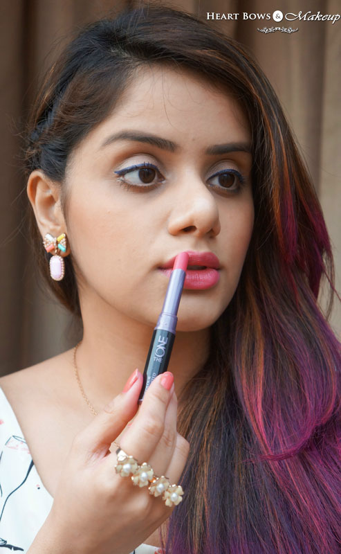 Perfect Peachy Pinks Lips For Summer with Oriflame The ONE Absolute Blush Lipstick