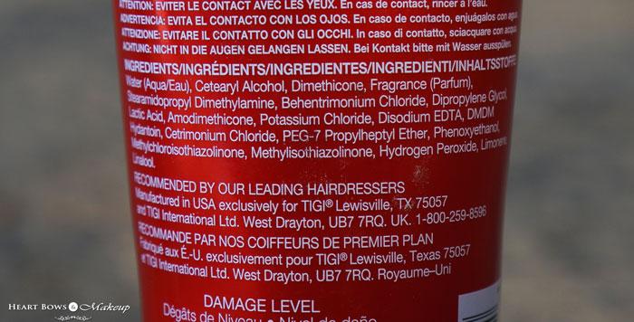 TIGI Bed Head Urban Anti-Dotes Resurrection Conditioner Ingredients & Review
