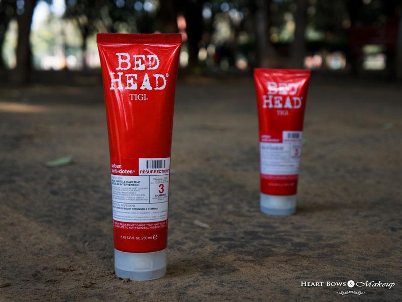 TIGI Bed Head Urban Anti-Dotes Resurrection Damage Level 3 Shampoo For Weak & Brittle Hair Review