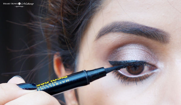 How to Apply Maybelline The Colossal Eyeliner: Swatches & EOTD
