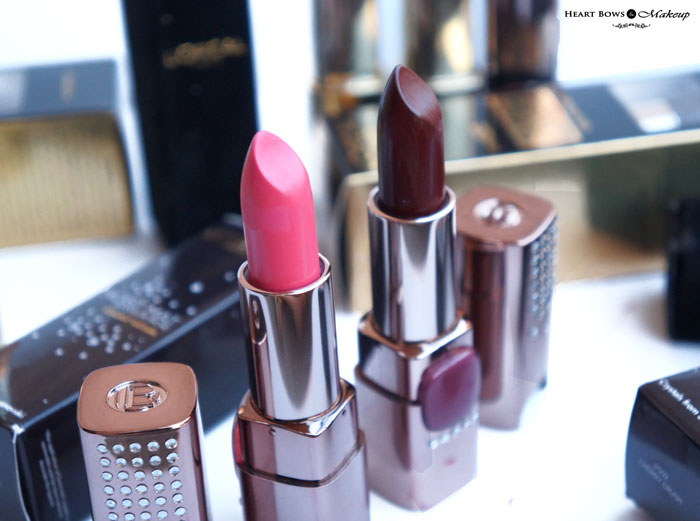 L'oreal Paris Color Riche Moist Matte Limited Edition Swarovski Lipstick Cherry Crush & Arabian Nights Review, Swatches & Buy Online India