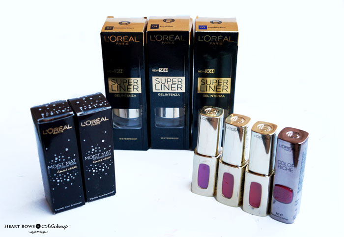 L'Oreal Paris Cannes 2015 Makeup Collection- Products, Swatches, Reviews, Price & Buy Online India