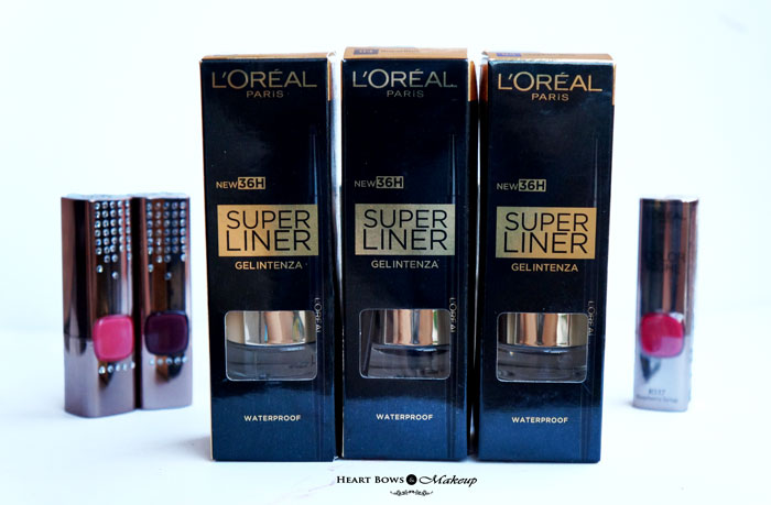 Loreal Cannes 2015: L'Oréal Paris Superliner Gel Intenza Review, Shades & Swatches