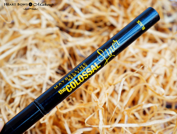 Maybelline The Colossal Eye Liner Review, Swatches, Price & Buy India