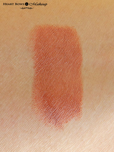 Oriflame The ONE Matte Lipstick Desert Sand Swatches & Review