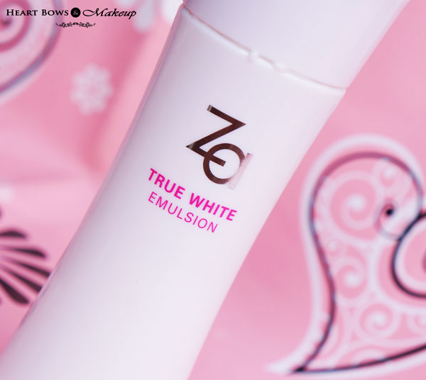 ZA True White Emulsion Review: Best Serum For Combination & Oily Skin