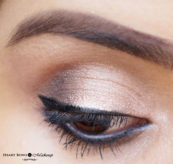 How to apply the Maybelline Colossal Colored Kohl Smoked Silver as an eyeshadow!