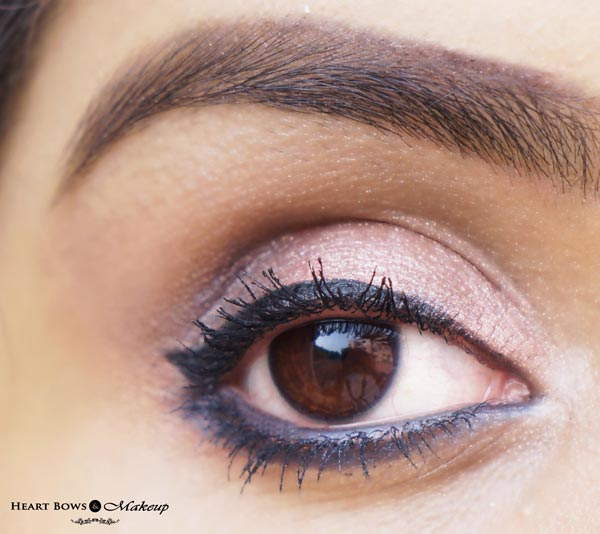 Maybelline The Colossal Kohl Smoked Silver Swatches, Review & EOTD