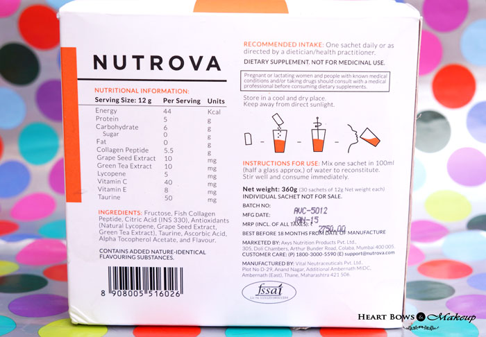 Nutrova Collagen + Antioxidants Review, Price & Buy Online India