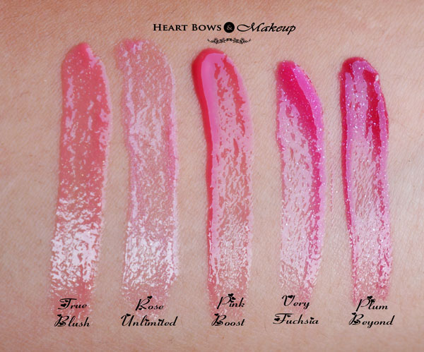 Oriflame The ONE Colour Unlimited Lip Gloss Swatches, Shades & Review
