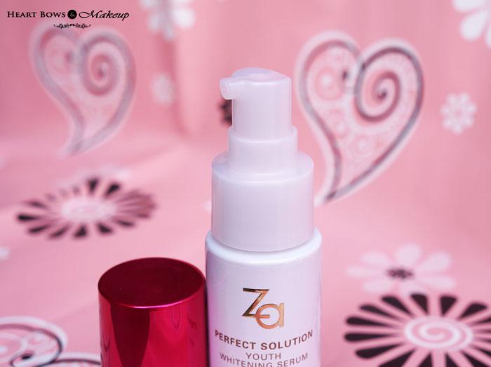 ZA Perfect Solution Whitening Serum Review & Price India