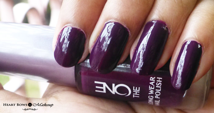 Oriflame The One Long Wear Nail Polish Purple In Paris Review Amp Swatches Heart Bows Amp Makeup