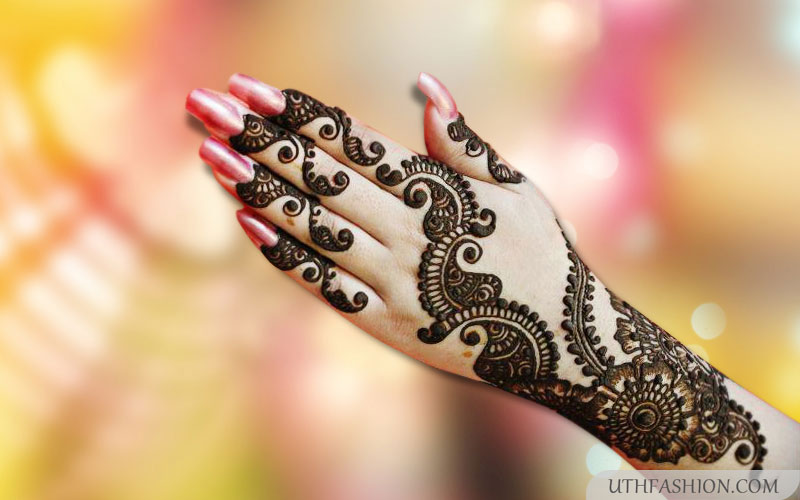Latest Mehendi Designs For Hands Heart Bows Amp Makeup
