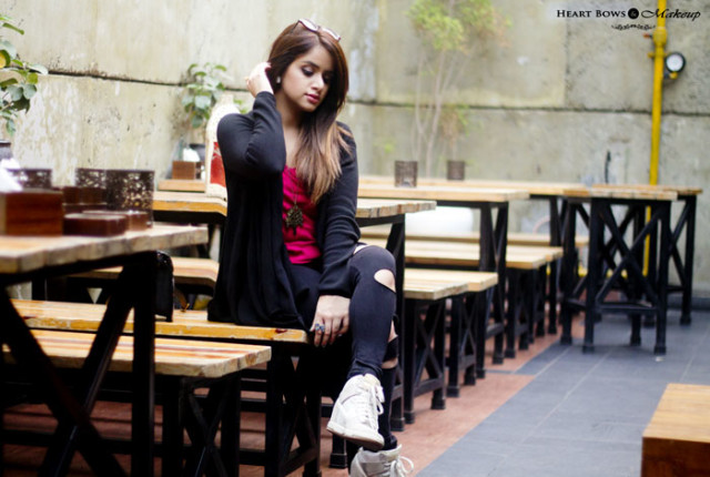 Indian Fashion Blog OOTD Girly Yet Grungy