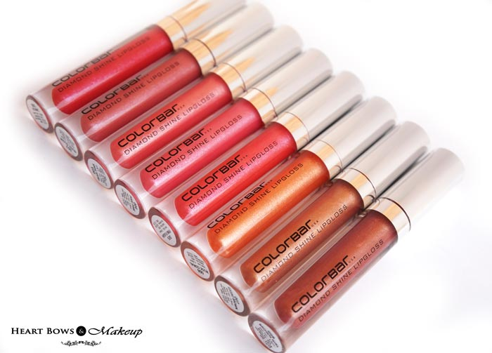 All Colorbar Diamond Shine Lipgloss Review, Swatches