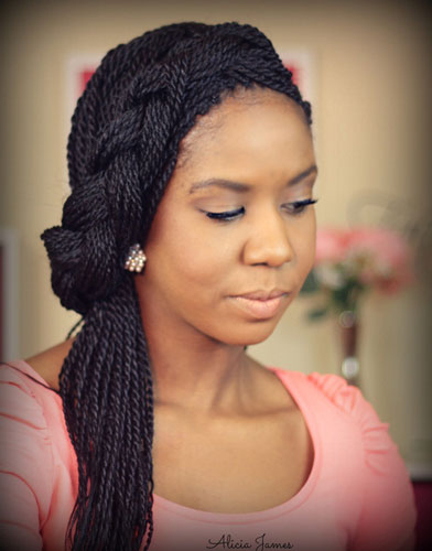 Box Braid Updo Hairstyles Black Hair