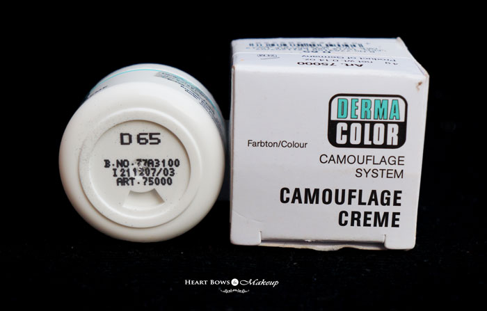 Best Concealer For Dark Circles Kryolan Derma Camouflage D65 Review
