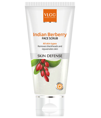 Best Affordable Face Scrub In India For Blackheads & Oily Skin VLCC Berberry Face Scrub