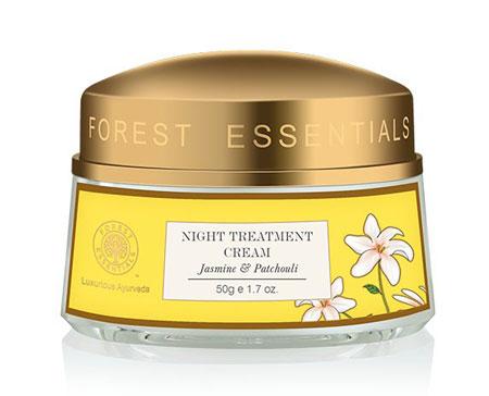 Best Night Cream In India For Oily Acne Prone Skin Forest Essentials Night Treatment Cream Jasmine & Patchouli