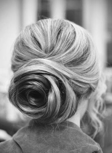 Best Wedding Hairstyles For Short Hair Chic Bun Updo