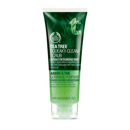 Best Face Scrub For Oily Skin In India The Body Shop Tea Tree Squeaky Clean Scrub Review