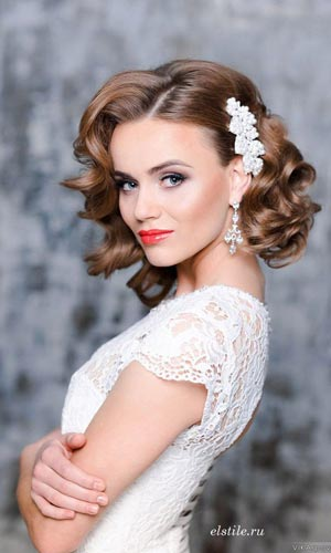 BridalHairstyles For Short Curly Hair