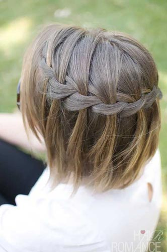 Waterfall Braid Hairstyle For Short Hair