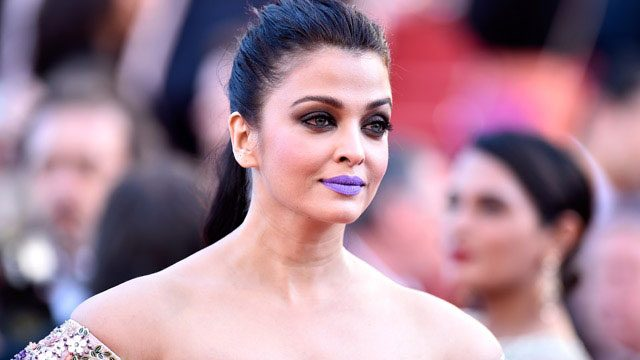 Aishwarya Rai Purple Lips Cannes 2016