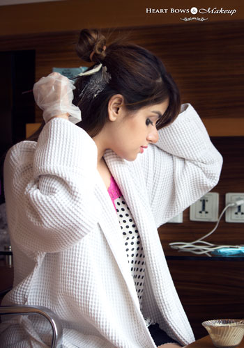 Best Indian Beauty Fashion Blogger Coloring Her Hair