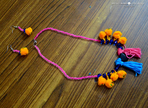 DIY Boho Pom Pom Jewellery Step By Step Tutorial