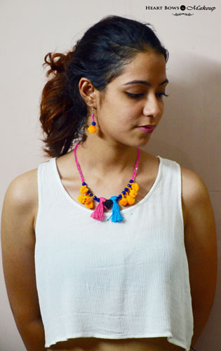 DIY Easy Boho Pom Pom Jewellery Step By Step Tutorial